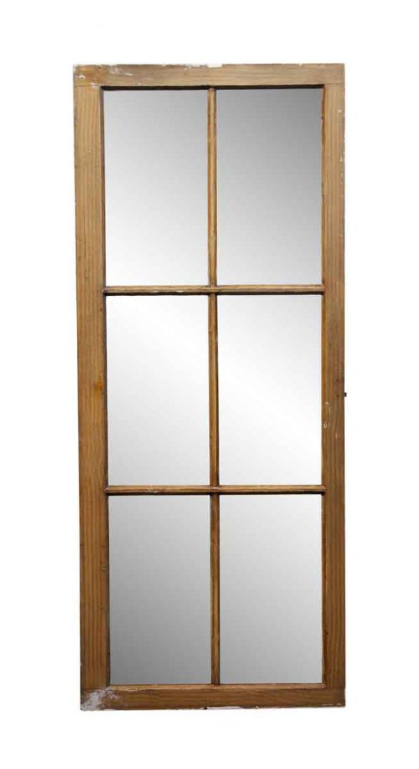 French Doors - 6 Pane Wood Frame Window