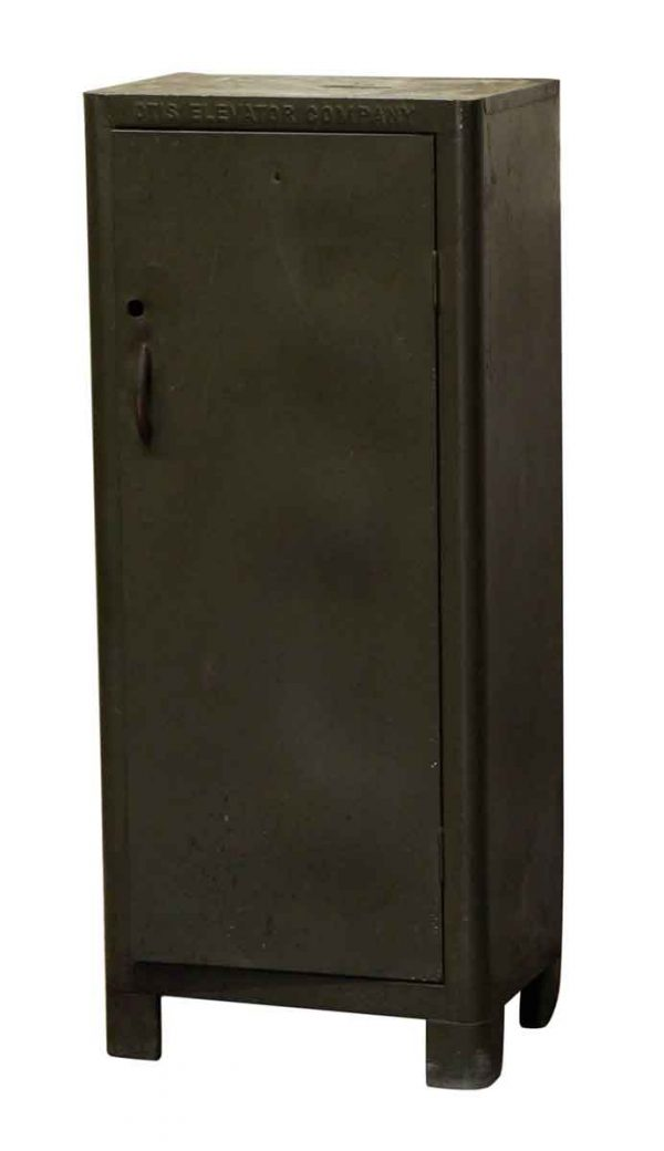 Industrial - Green Metal Otis Cabinet