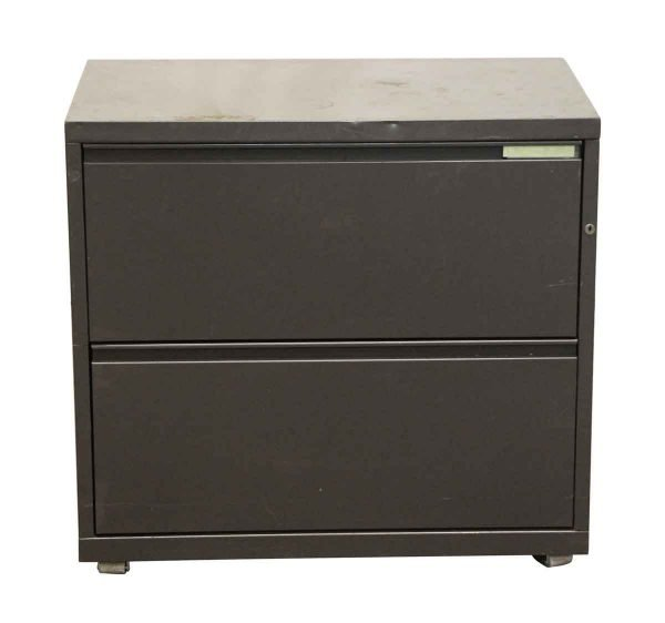 Office Furniture - Small Gray Metal Cabinet