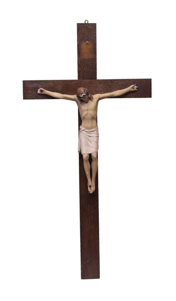 Religious Antiques - Salvaged Jesus on the Cross