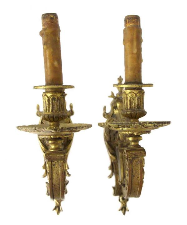 Sconces & Wall Lighting - Gilded Bronze Pair of Sconces