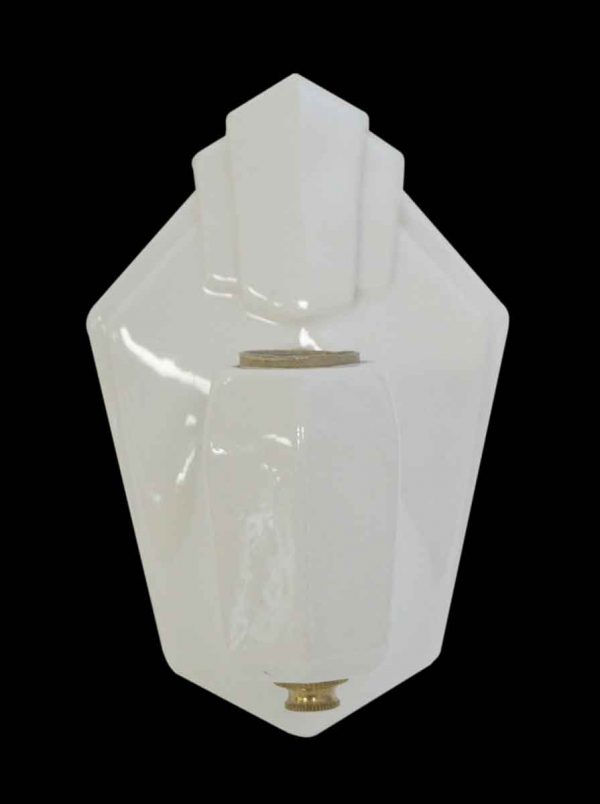 Sconces & Wall Lighting - White Art Deco Porcelain Wall Sconce