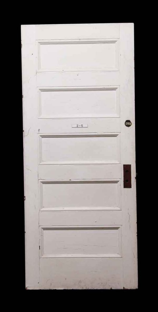 Standard Doors - 5 Panel White Wood Door