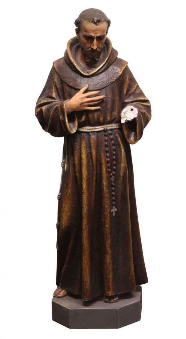 Statues & Fountains - Salvaged Religious Plaster Figure of a Saint