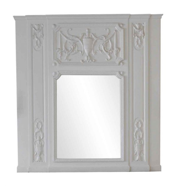Waldorf Astoria - Waldorf Astoria White Wooden Overmantel Mirror