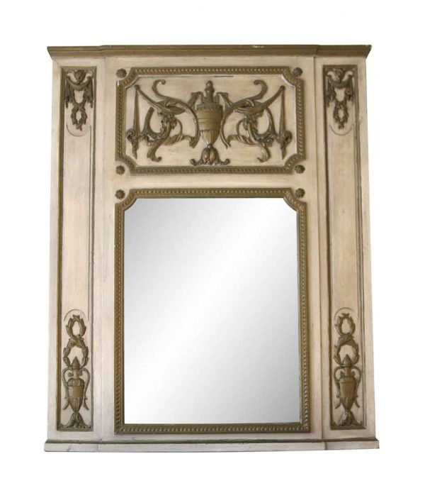 Waldorf Astoria - Waldorf Astoria Wooden Overmantel Mirror with an Urn Motif
