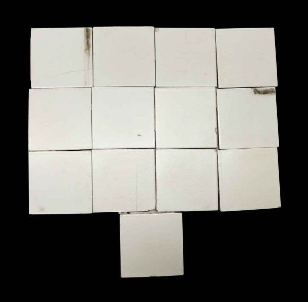 Wall Tiles - Crackled Off White 4.25 in. Wall Tile Set