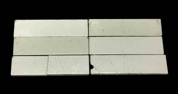 Wall Tiles - Off White Crackled 6 in. Tile Set