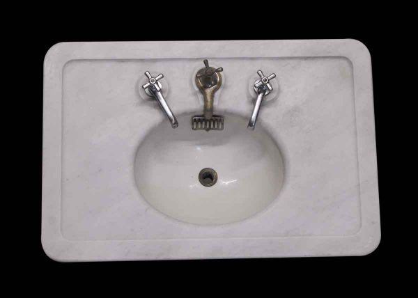 Bathroom - The Meyer Sniffen Co. Alpha Gray Marble Sink
