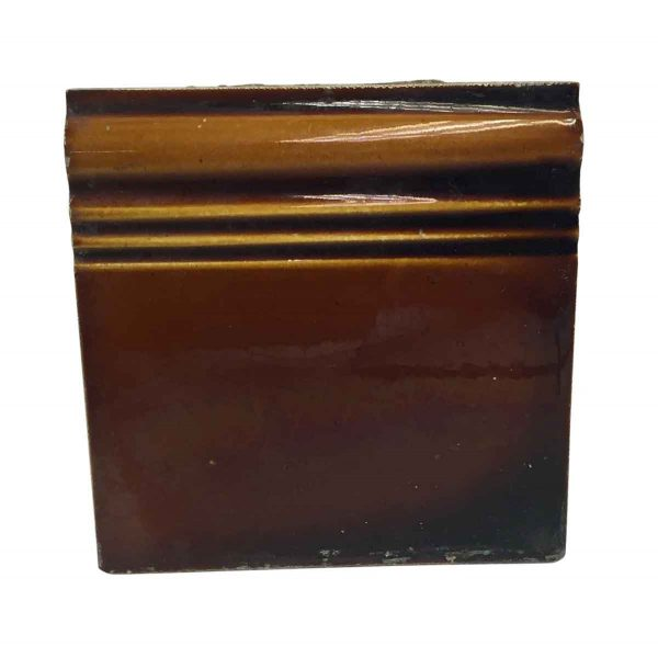 Bull Nose & Cap Tiles - Brown Baseboard Tile P261784
