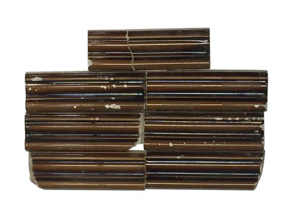 Bull Nose & Cap Tiles - Original Brown Bull Nose Cap Tile Set