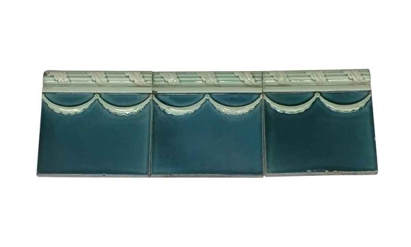 Bull Nose & Cap Tiles - Salvaged Blue 6 in. Square Edge Tiles