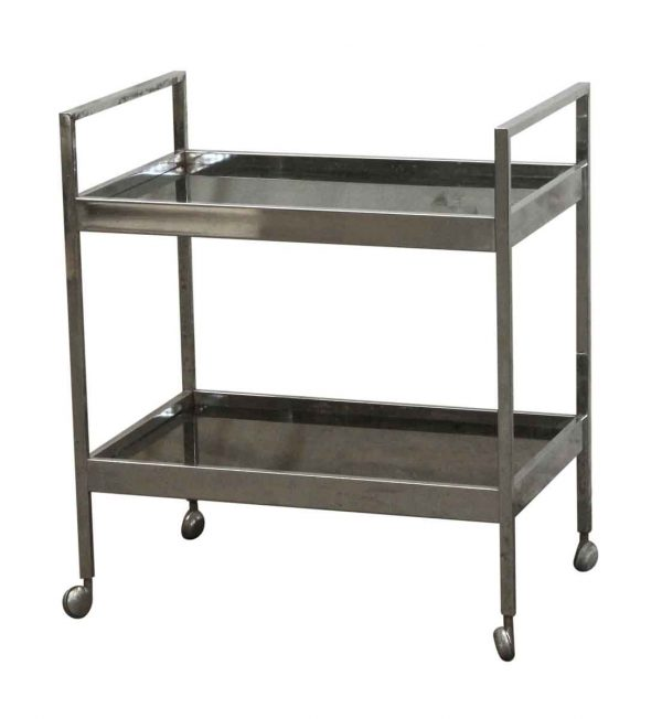 Carts - Two Shelf Bar Cart with Smoky Glass
