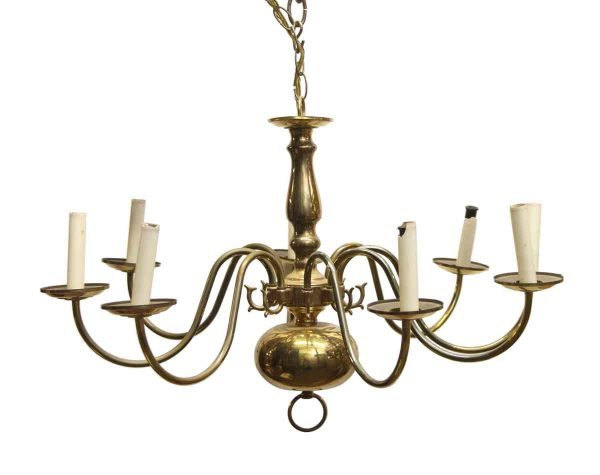 Chandeliers - Brass Chandelier with 8 Arms