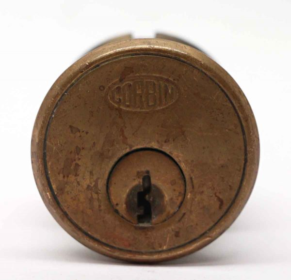 Door Locks - Reclaimed Corbin 1.625 in. Bronze Lock