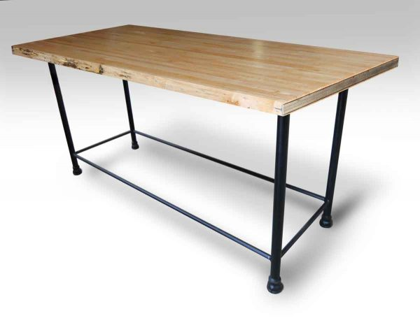 Farm Tables - Bowling Alley Bar Height Table with Pipe Legs