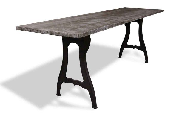 Farm Tables - Steel Top Counter Height Table with New York Legs