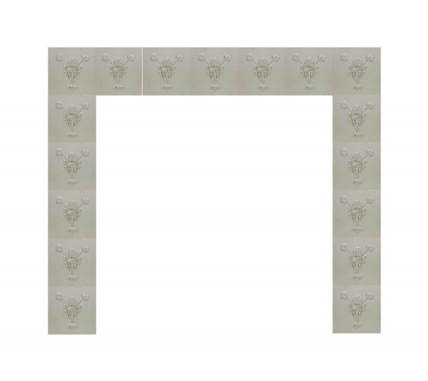 Fireplace Surrounds - White & Gold Floral Fireplace Surround
