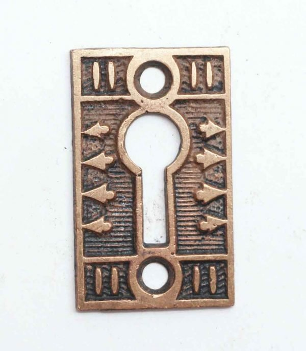 Keyhole Covers - Brass Antique Keyhole Cover with Aesthetic Detail