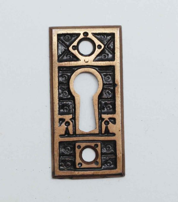 Keyhole Covers - Brass Plated Cast Iron Keyhole Cover