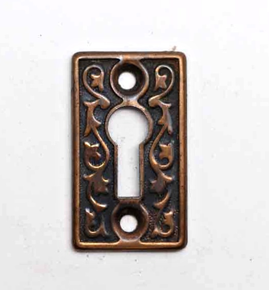 Keyhole Covers - Brass Plated Steel Keyhole Cover
