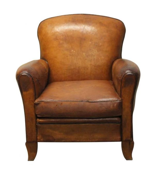 Living Room - French Leather Vintage Club Chair