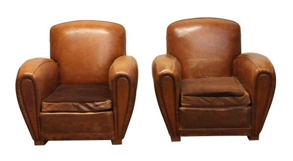 Living Room - Pair of Antique Club Chairs