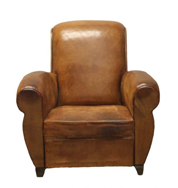 Living Room - Pair of French Vintage Leather Club Chairs