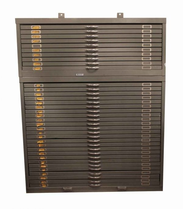 Office Furniture - Huge Metal Filing Cabinet with Chrome Handles