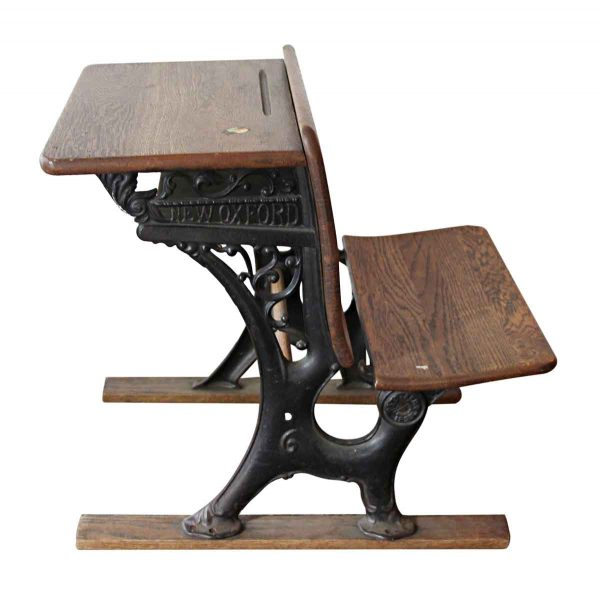 Office Furniture - New Oxford Cast Iron & Wood School Desk