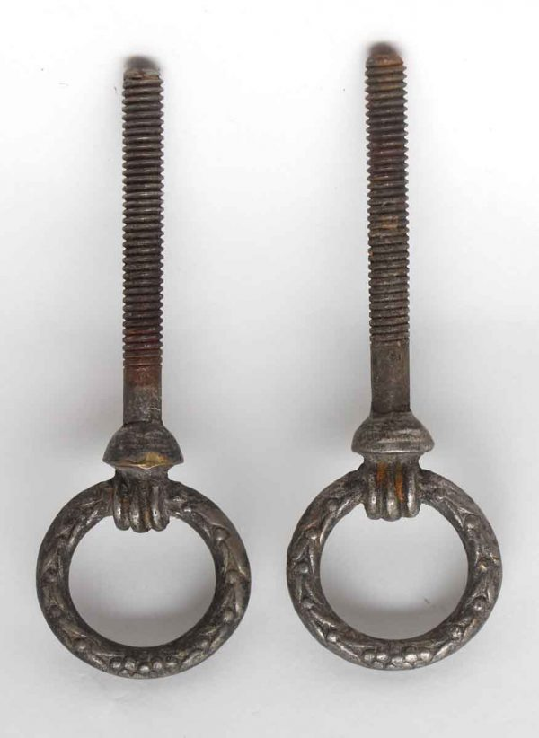 Other Cabinet Hardware - Pair of Nickel Plated Cheval Mirror Screws