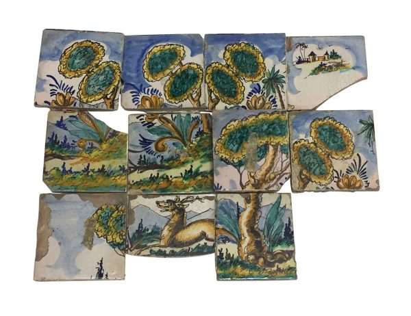 Tile Murals  - Hand Painted Forest Tile Mural