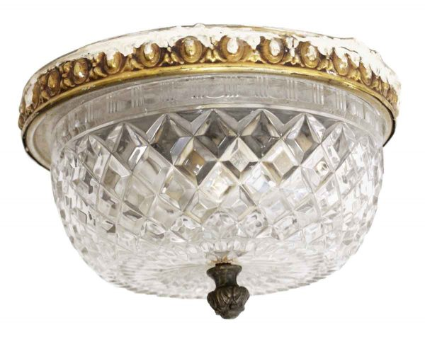 Waldorf Astoria - Crystal & Brass Waldorf Astoria Flush Mount Fixture