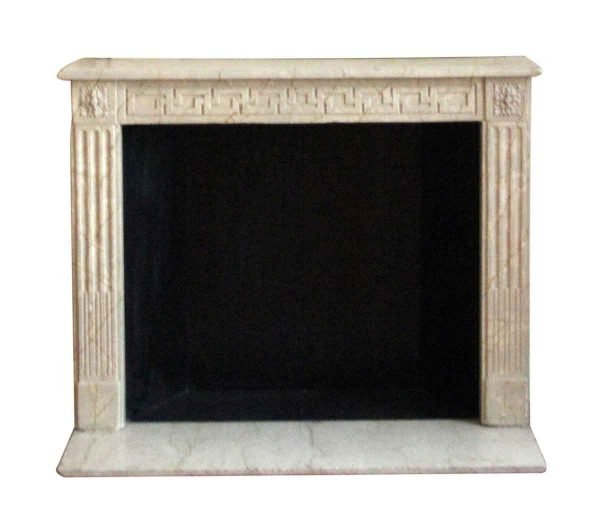 Waldorf Astoria - French Regency Limestone Louis XVI Mantel with Greek Key Motif