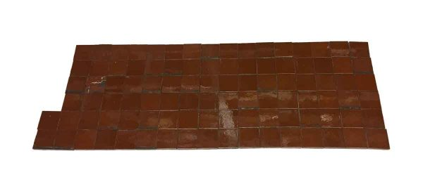 Wall Tiles - Antique Dark Red Shiny 3 x 3 Square Tile Set