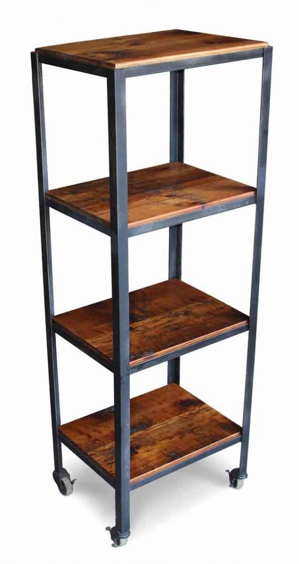 Altered Antiques - Petite Rolling Shelving Cart Made with Reclaimed Pine Wood