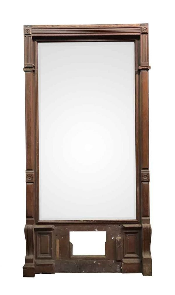 Antique Mirrors - Large Naturally Distressed Mirror in Pier Mirror frame