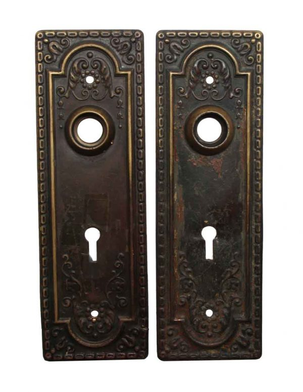Back Plates - Pressed Metal 7.25 in. Door Back Plates with Keyhole