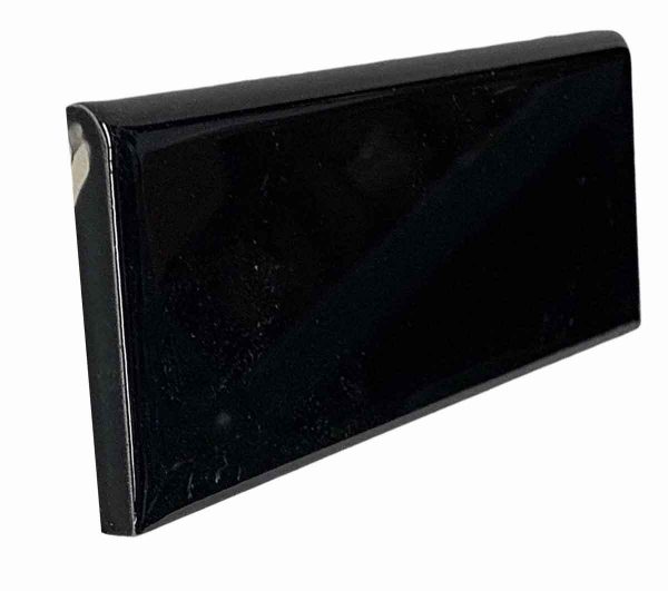 Bull Nose & Cap Tiles - 0.125 in. Thick Curved Edge Black Wall Tile