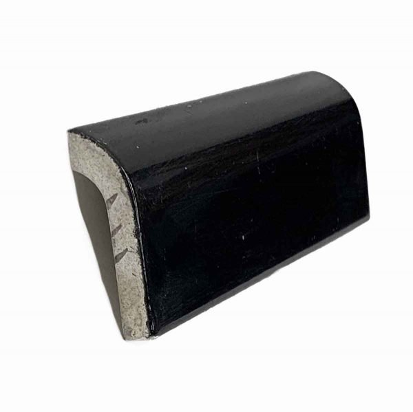 Bull Nose & Cap Tiles - 0.25 in. Thick Solid Black Cap Tile