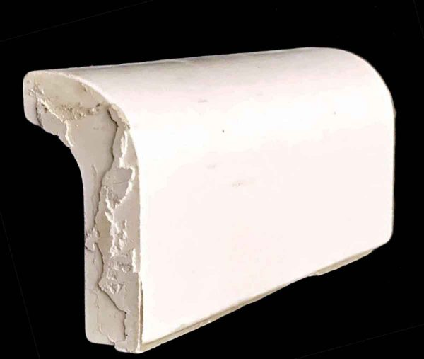 Bull Nose & Cap Tiles - 0.5 in. Thick Plain White Cap Tile
