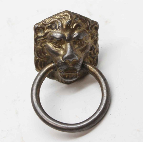 Cabinet & Furniture Pulls - Single Reproduction Lion Head Drawer Pull