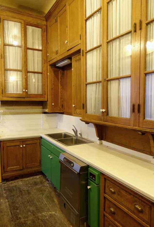 Cabinets & Bookcases - Entire Vintage Farm House Oak & Glass Kitchen Cabinet Lot