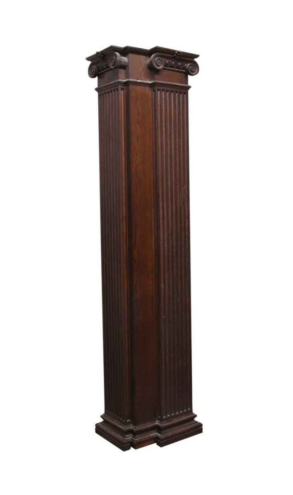 Columns & Pilasters - Pair of 8 ft Oak Corner Pilasters