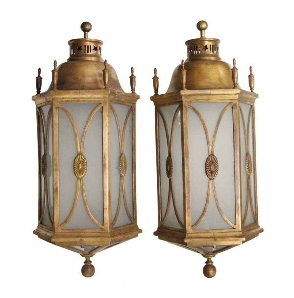 Exterior Lighting - Pair of Large Traditional Copper Exterior Sconces