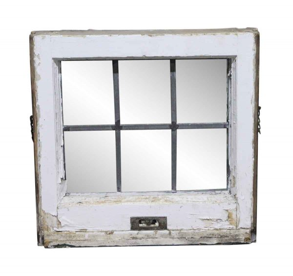 Leaded Glass - 16.5 Square Small Leaded Antique Glass Window
