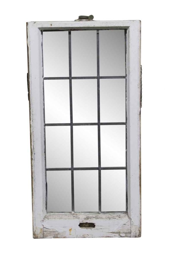 Leaded Glass - 33 x 16.75 Painted Leaded Glass Window