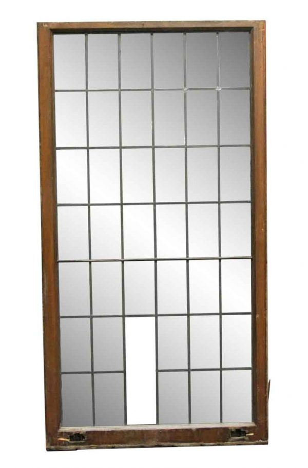 Leaded Glass - 66.5 x 35 Large French Windows from Rose Hill Mansion