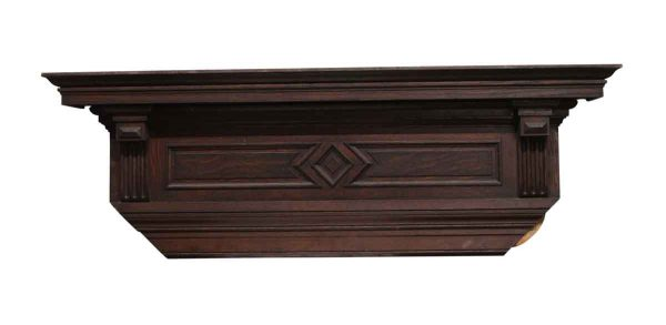 Moldings - 59.5 Oak Mantel Header with Attached Casement Molding