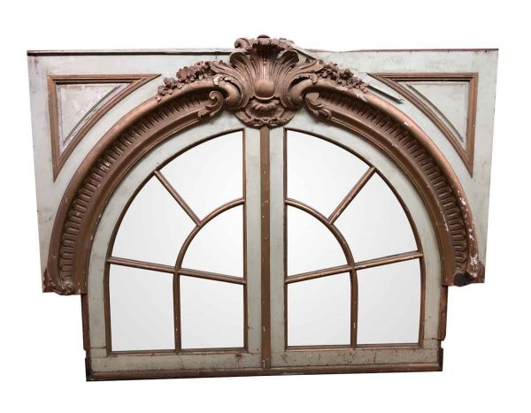 Moldings - Arched Paneled Palladian Mirror